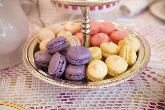 Macarons from a Colorful Tea Party via Kara's Party Ideas | KarasPartyIdeas.com (26)