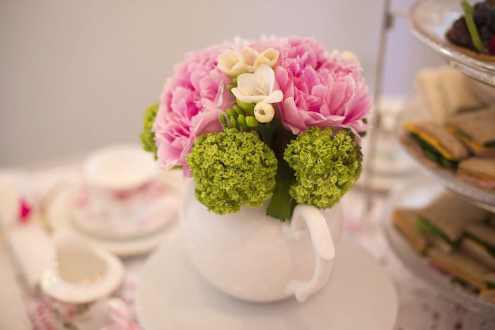 Flowers from a Colorful Tea Party via Kara's Party Ideas | KarasPartyIdeas.com (42)