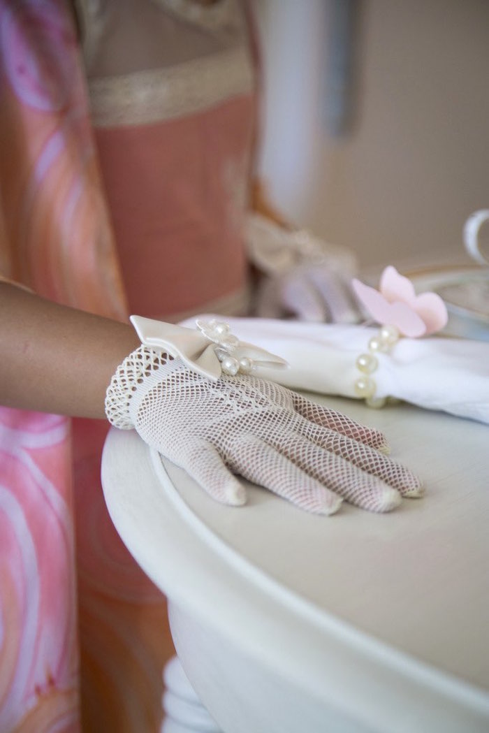 Gloved hand from a Colorful Tea Party via Kara's Party Ideas | KarasPartyIdeas.com (18)