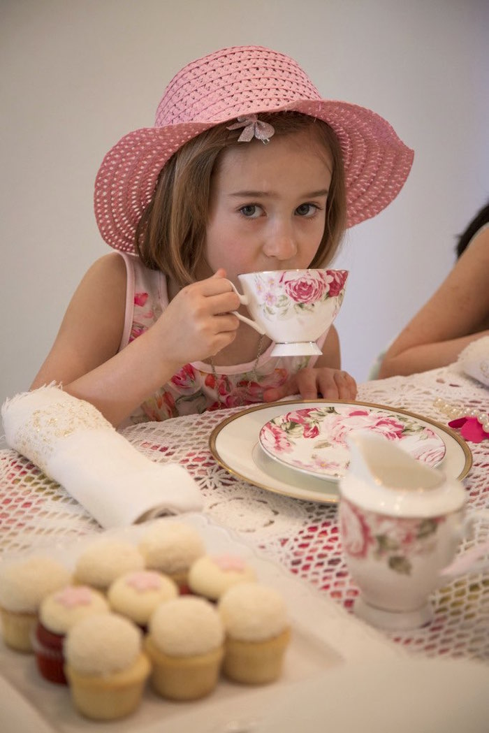 Tea time from a Colorful Tea Party via Kara's Party Ideas | KarasPartyIdeas.com (17)