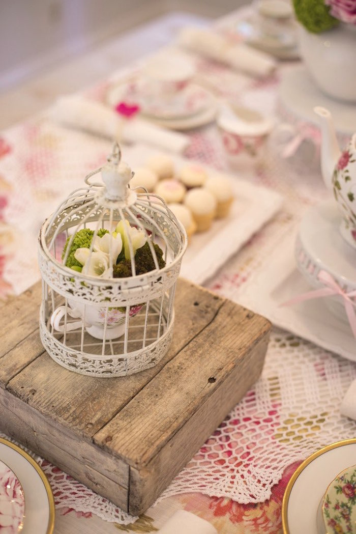 Table decor from a Colorful Tea Party via Kara's Party Ideas | KarasPartyIdeas.com (41)