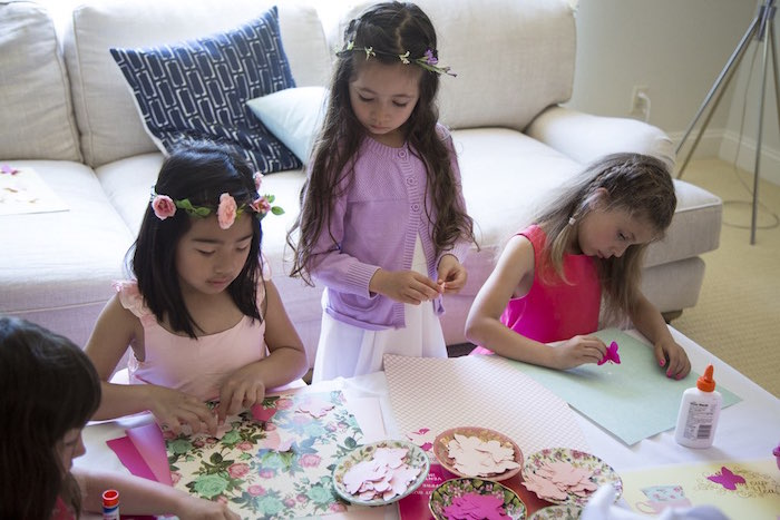 Scrapbook activity from a Colorful Tea Party via Kara's Party Ideas | KarasPartyIdeas.com (10)