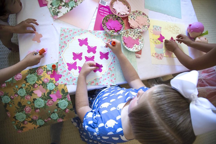 Scrapbook activity from a Colorful Tea Party via Kara's Party Ideas | KarasPartyIdeas.com (9)