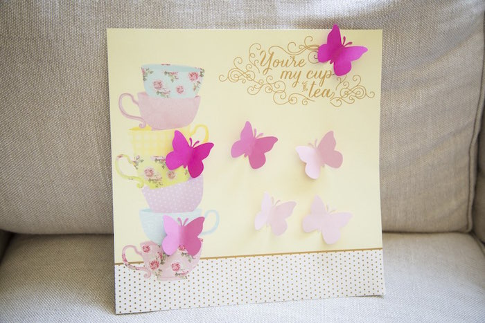 Scrapbook activity from a Colorful Tea Party via Kara's Party Ideas | KarasPartyIdeas.com (5)