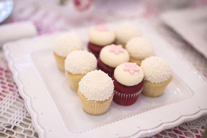 Cupcakes from a Colorful Tea Party via Kara's Party Ideas | KarasPartyIdeas.com (40)