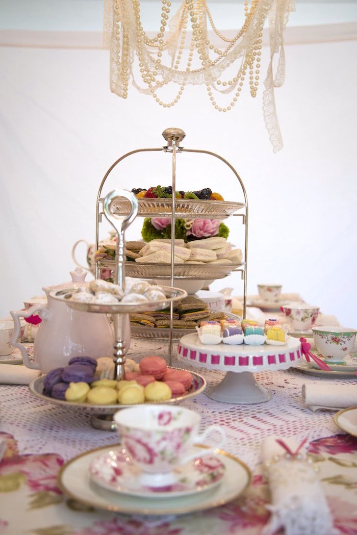 Sweets and snacks from a Colorful Tea Party via Kara's Party Ideas | KarasPartyIdeas.com (37)
