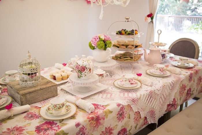 Kara S Party Ideas Colorful Tea Party Kara S Party Ideas