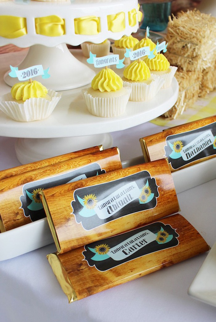 Personalized candy bars from a Country Fair Graduation Party via Kara's Party Ideas KarasPartyIdeas.com (5)