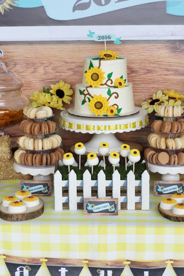 Cake + sweets from a Country Fair Graduation Party via Kara's Party Ideas KarasPartyIdeas.com (20)