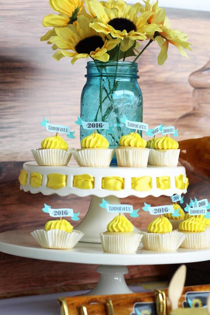 Cupcakes from a Country Fair Graduation Party via Kara's Party Ideas KarasPartyIdeas.com (18)