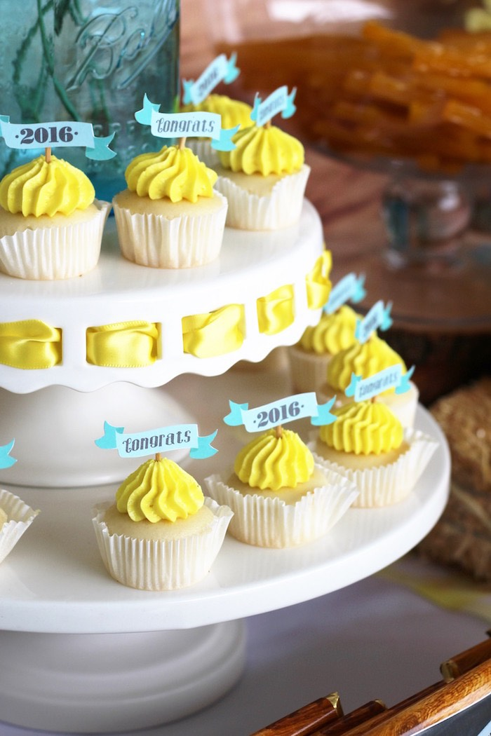 Cupcakes from a Country Fair Graduation Party via Kara's Party Ideas KarasPartyIdeas.com (15)