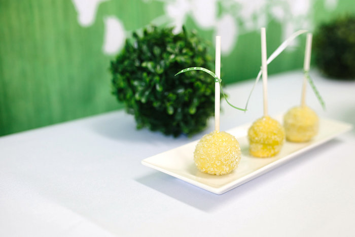 Cake pops from a Daisy Garden Themed Birthday Party via Kara's Party Ideas - KarasPartyIdeas.com (18)