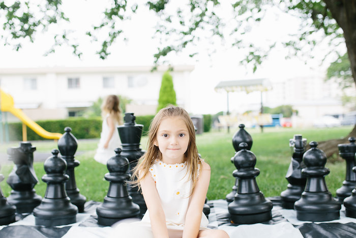 Giant chess board game from a Daisy Garden Themed Birthday Party via Kara's Party Ideas - KarasPartyIdeas.com (15)