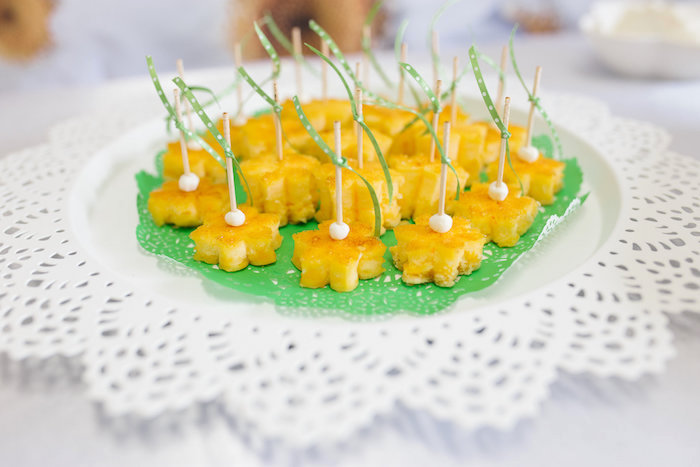 Daisy shaped food from a Daisy Garden Themed Birthday Party via Kara's Party Ideas - KarasPartyIdeas.com (4)