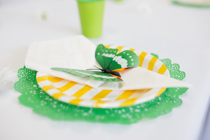 Place setting from a Daisy Garden Themed Birthday Party via Kara's Party Ideas - KarasPartyIdeas.com (33)