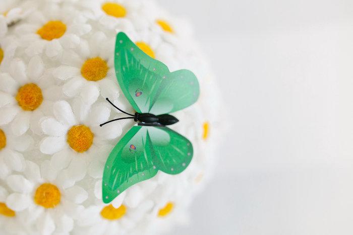 Butterfly + daisy decor from a Daisy Garden Themed Birthday Party via Kara's Party Ideas - KarasPartyIdeas.com (32)