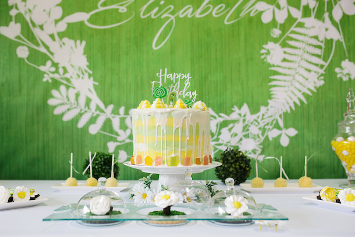 Cakescape from a Daisy Garden Themed Birthday Party via Kara's Party Ideas - KarasPartyIdeas.com (31)