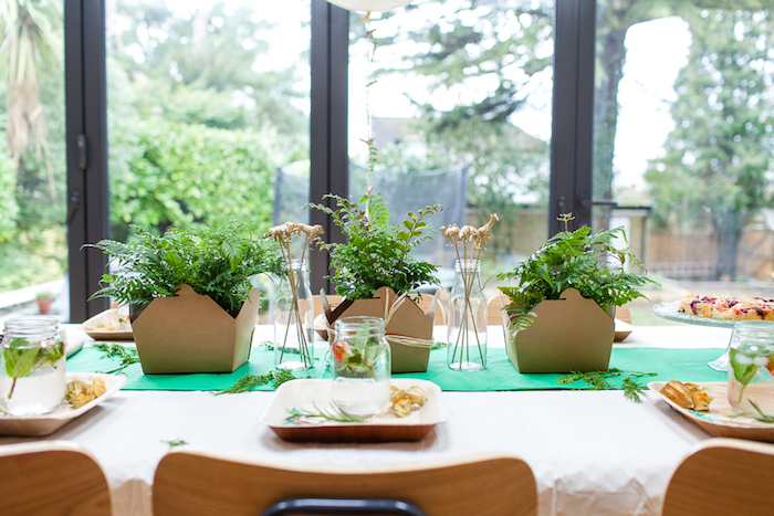 Dining tablescape from an Elegant Botanical Garden Birthday Brunch via Kara's Party Ideas KarasPartyIdeas.com (16)