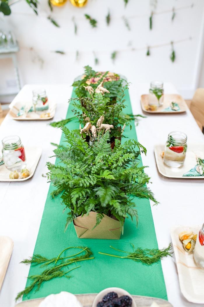Botanical table centerpieces from an Elegant Botanical Garden Birthday Brunch via Kara's Party Ideas KarasPartyIdeas.com (13)