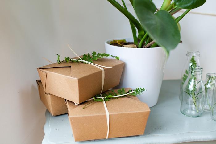 Favor boxes from an Elegant Botanical Garden Birthday Brunch via Kara's Party Ideas KarasPartyIdeas.com (12)