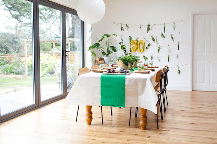 Dining table from an Elegant Botanical Garden Birthday Brunch via Kara's Party Ideas KarasPartyIdeas.com (5)