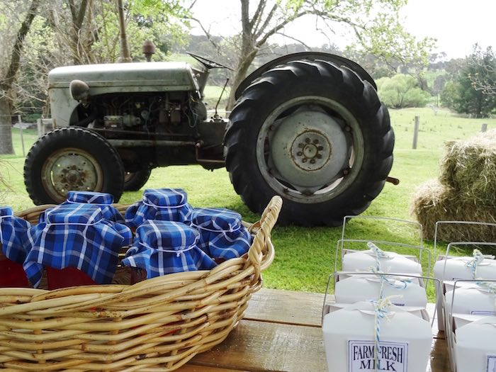 Tractor from a Farm Fresh Birthday Party via Kara's Party Ideas | KarasPartyIdeas.com (25)