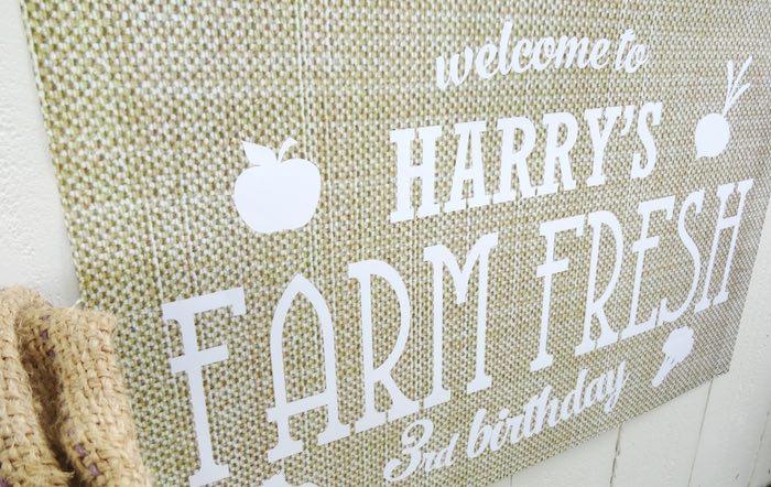 Sign from aFarm Fresh Birthday Party via Kara's Party Ideas | KarasPartyIdeas.com (23)
