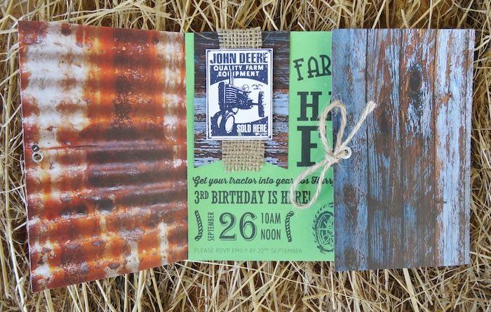 Invitation from a Farm Fresh Birthday Party via Kara's Party Ideas | KarasPartyIdeas.com (36)
