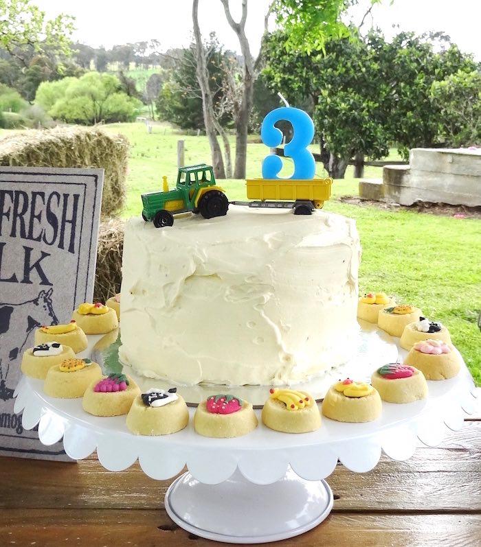 Farm cake from a Farm Fresh Birthday Party via Kara's Party Ideas | KarasPartyIdeas.com (16)