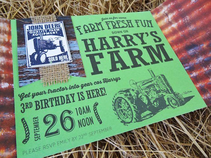 Invitation from a Farm Fresh Birthday Party via Kara's Party Ideas | KarasPartyIdeas.com (35)