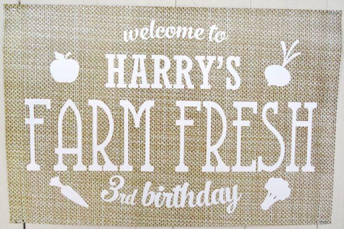 Sign from a Farm Fresh Birthday Party via Kara's Party Ideas | KarasPartyIdeas.com (4)