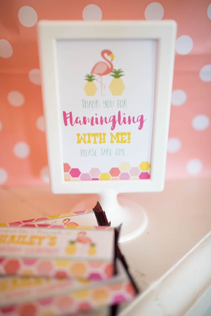 Party signage from a Flamingo + Flamingle Pineapple Party via Kara's Party Ideas | KarasPartyIdeas.com - The Place for All Things Party! (7)