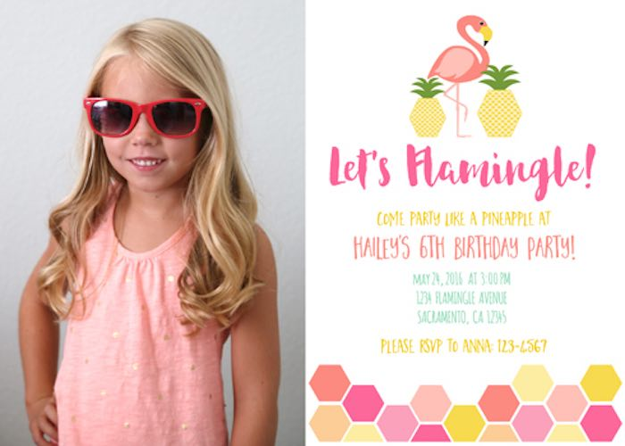 Invitation from a Flamingo + Flamingle Pineapple Party via Kara's Party Ideas | KarasPartyIdeas.com - The Place for All Things Party! (2)