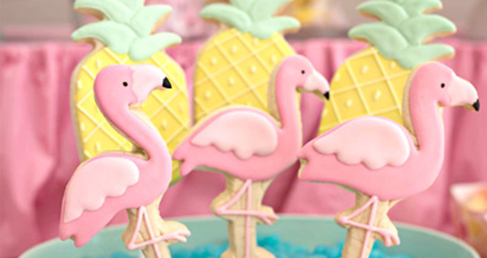 Flamingo + Flamingle Pineapple Party via Kara's Party Ideas | KarasPartyIdeas.com - The Place for All Things Party! (1)