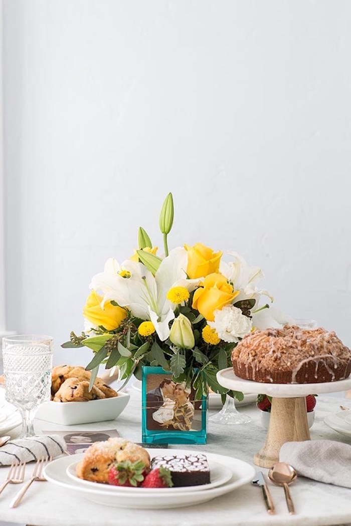 Brunch table from a Floral Mother's Day Brunch via Kara's Party Ideas | KarasPartyIdeas.com (11)