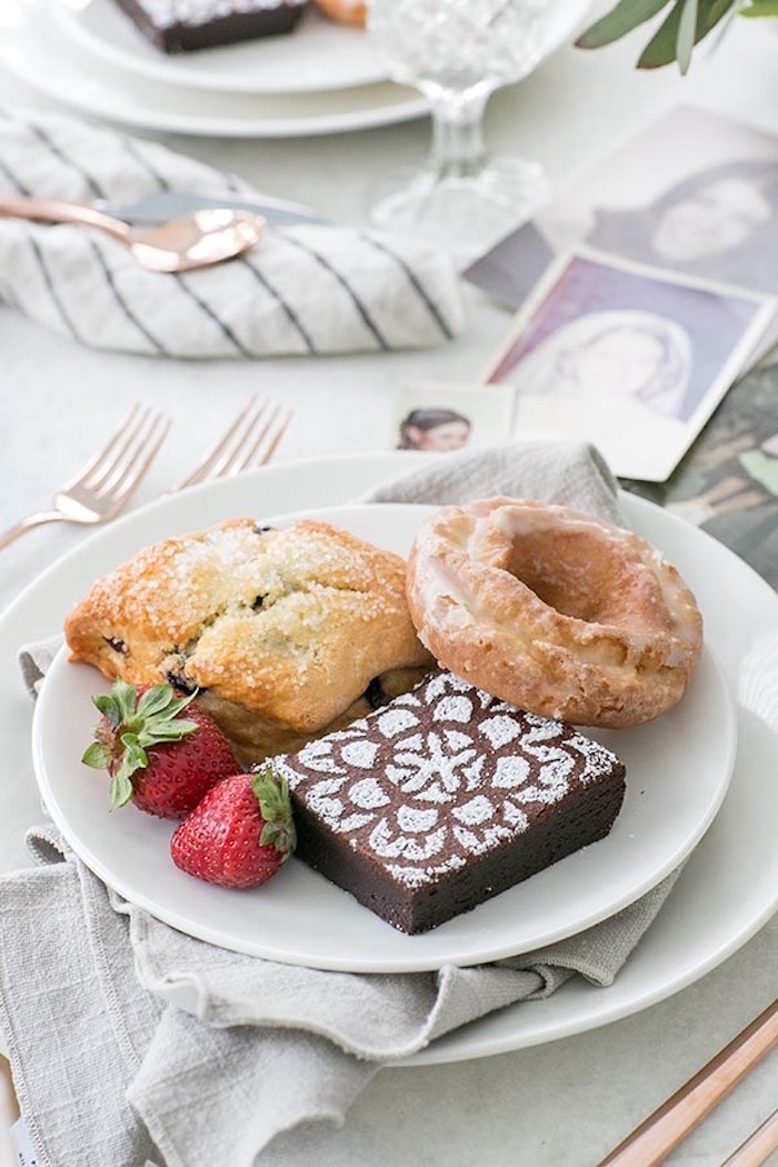 Plate of food from a Floral Mother's Day Brunch via Kara's Party Ideas | KarasPartyIdeas.com (9)