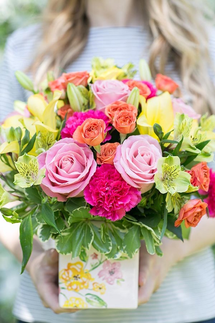 Floral arrangement from a Floral Mother's Day Brunch via Kara's Party Ideas | KarasPartyIdeas.com (5)