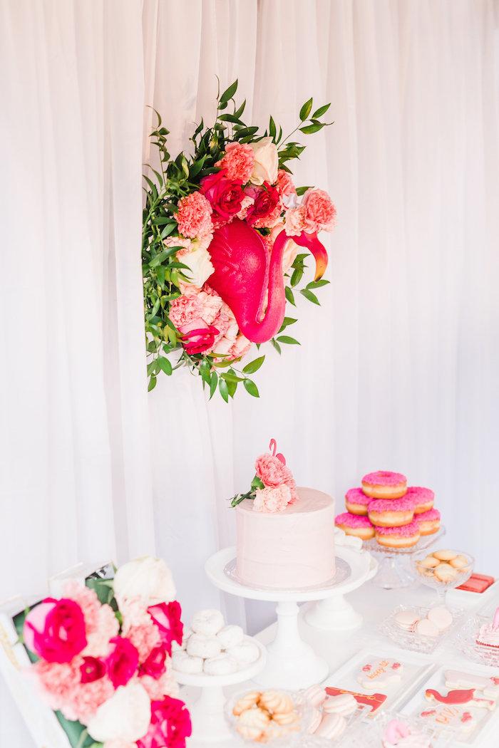 Florals & Flamingos Birthday Party via Kara's Party Ideas KarasPartyIdeas.com (42)