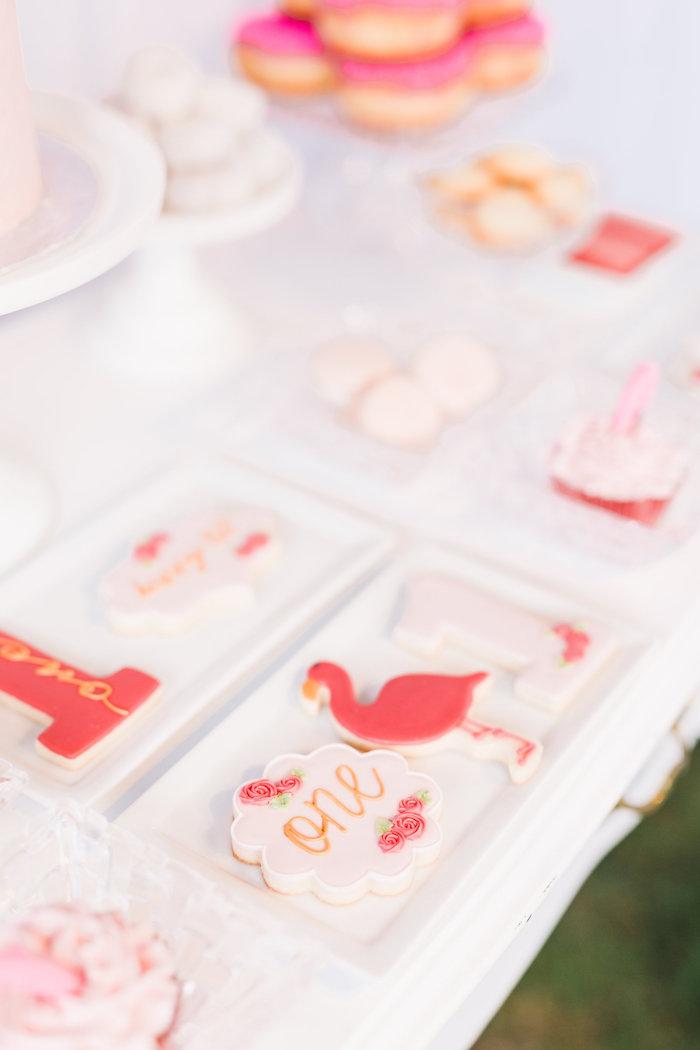 Cookies from a Florals & Flamingos Birthday Party via Kara's Party Ideas KarasPartyIdeas.com (35)