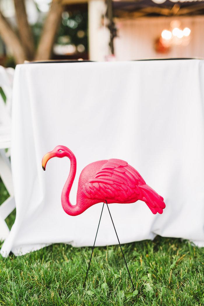 Flamingo from a Florals & Flamingos Birthday Party via Kara's Party Ideas KarasPartyIdeas.com (31)