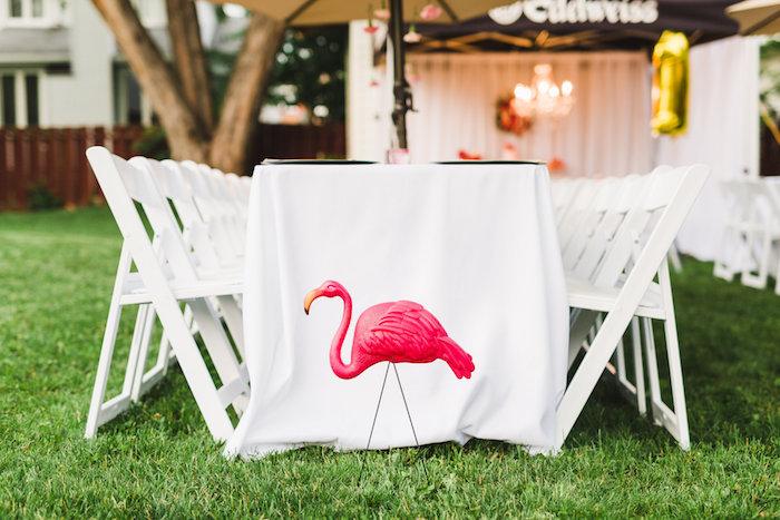 Flamingo from a Florals & Flamingos Birthday Party via Kara's Party Ideas KarasPartyIdeas.com (30)