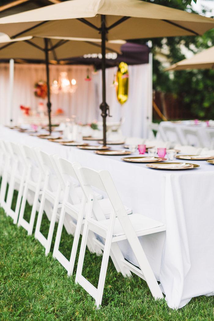 Dining table from a Florals & Flamingos Birthday Party via Kara's Party Ideas KarasPartyIdeas.com (28)
