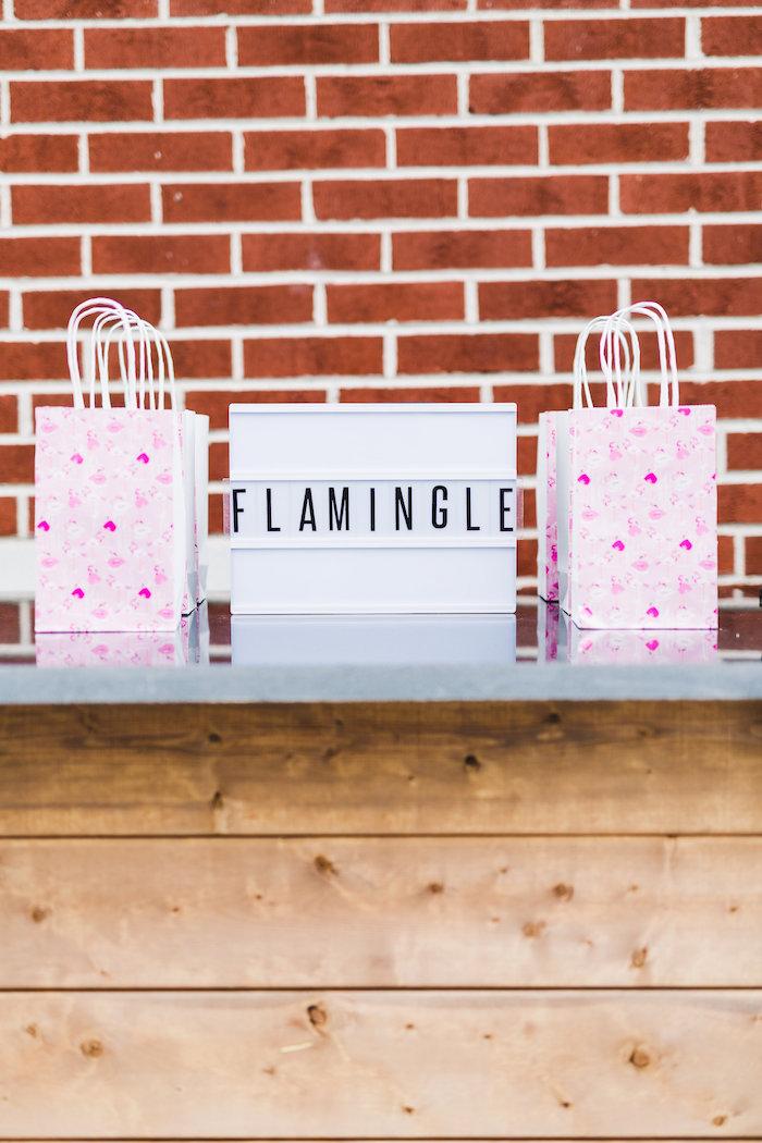 Flamingo favor bags from a Florals & Flamingos Birthday Party via Kara's Party Ideas KarasPartyIdeas.com (55)