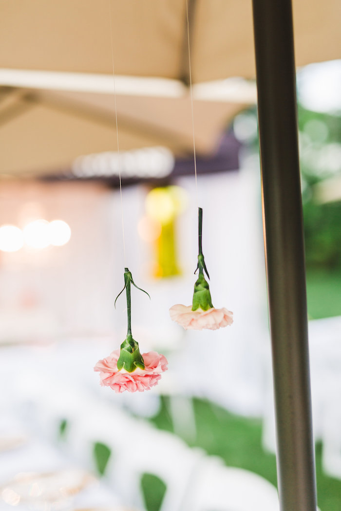 Hanging flowers from a Florals & Flamingos Birthday Party via Kara's Party Ideas KarasPartyIdeas.com (26)