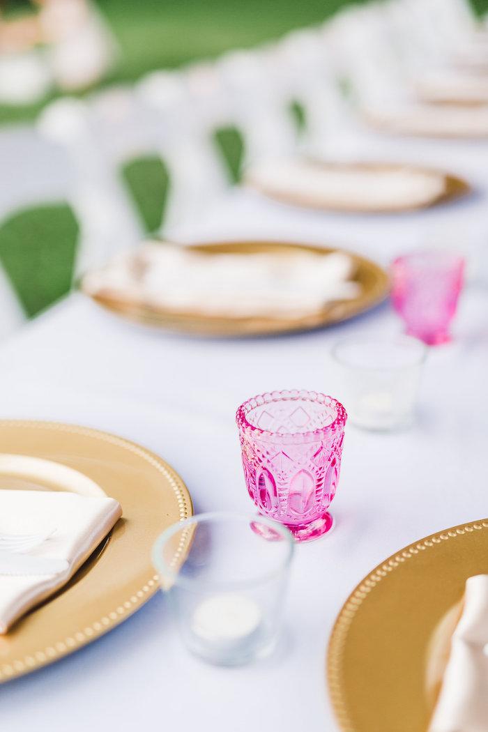 Table decor from a Florals & Flamingos Birthday Party via Kara's Party Ideas KarasPartyIdeas.com (23)