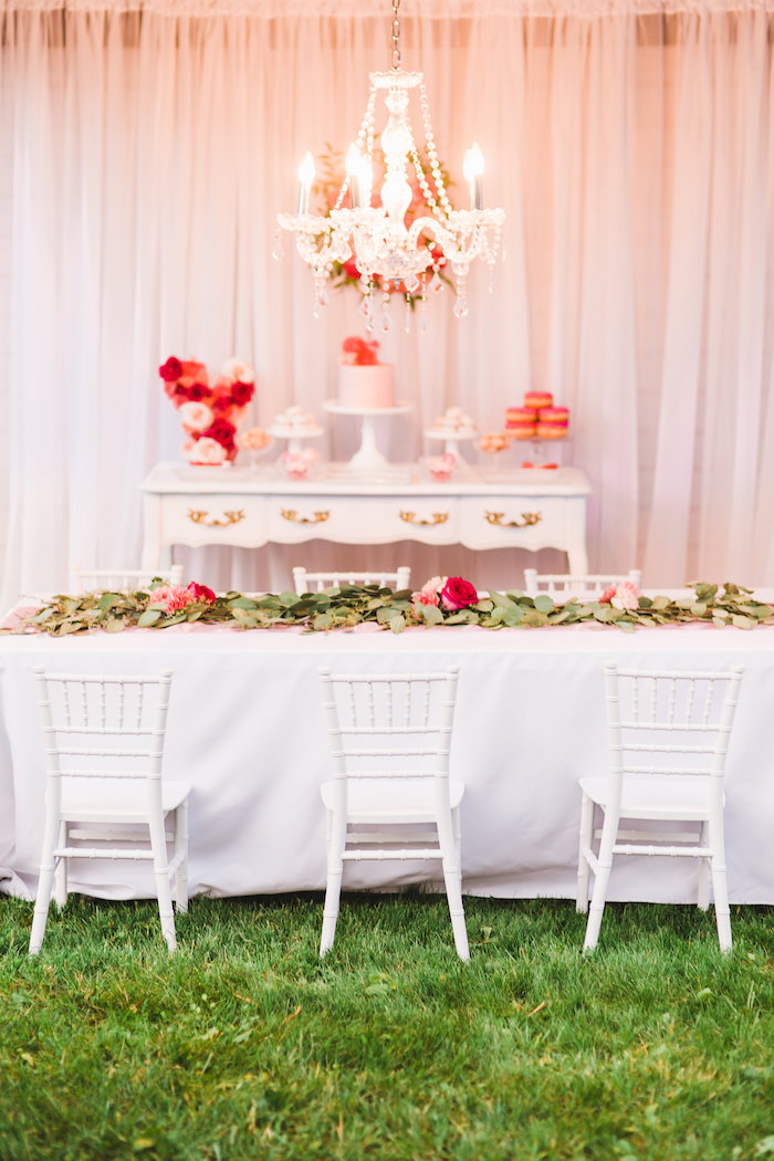 Party tables + spread from a Florals & Flamingos Birthday Party via Kara's Party Ideas KarasPartyIdeas.com (8)
