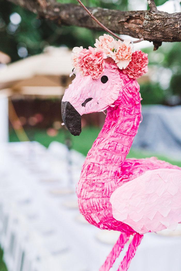 Flamingo Piñata from a Florals & Flamingos Birthday Party via Kara's Party Ideas KarasPartyIdeas.com (5)