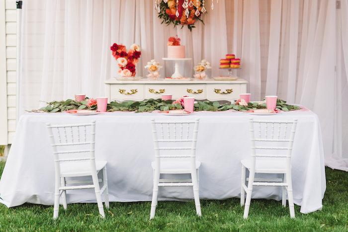 Party table from a Florals & Flamingos Birthday Party via Kara's Party Ideas KarasPartyIdeas.com (49)