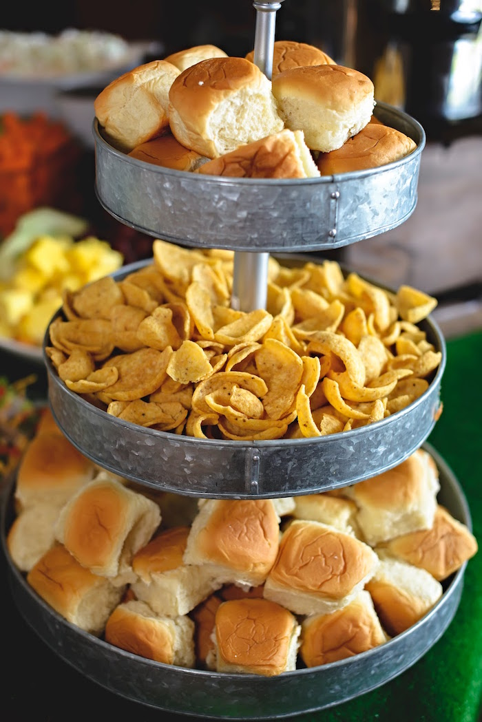 Chips & rolls from a Football 1st Birthday Party via Kara's Party Ideas KarasPartyIdeas.com (32)