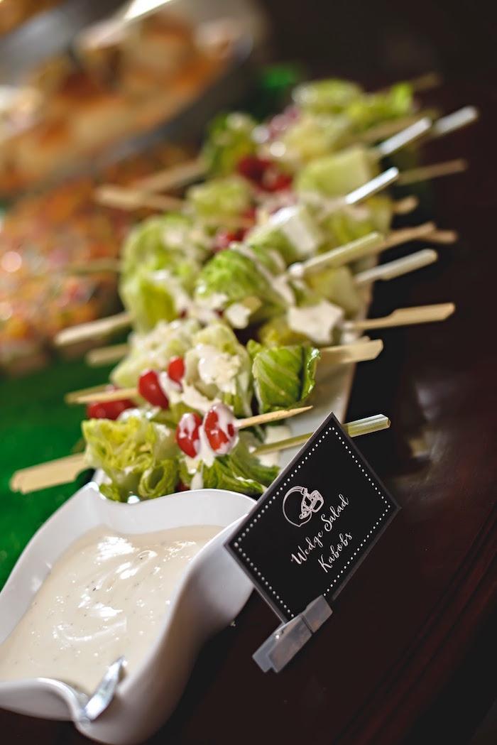 Wedge Salad Kabobs from a Football 1st Birthday Party via Kara's Party Ideas KarasPartyIdeas.com (30)